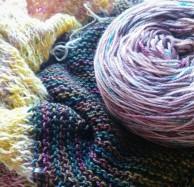 Aura being knit by Mandyz Moon